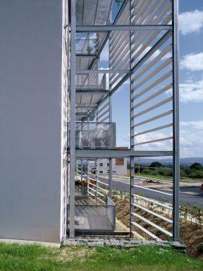 Vorgestellte Balkone